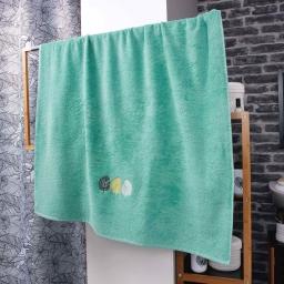 Drap de bain absorbant 90 x 150 cm eponge brodée fougerys Menthe