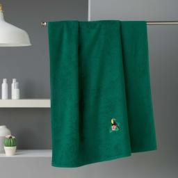 Drap de douche 70 x 130 cm eponge brodee toucalaos Vert