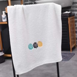 Drap de douche absorbant 70 x 130 cm eponge brodee fougerys Blanc