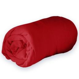 Drap housse 1 personne 90 x 190 cm jersey uni jersy Rouge