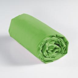Drap housse 1 personne 90 x 190 cm uni 57 fils lina Vert