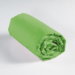 Drap housse 2 personnes 140 x 190 cm uni 57 fils lina Vert