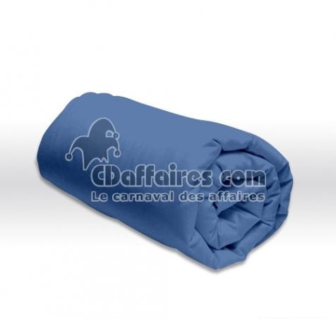 drap housse bleu 90x190 cm cdaffaires. Black Bedroom Furniture Sets. Home Design Ideas