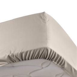 Drap housse lin 90 x 190 cm en percale Bonnet de 30 cm