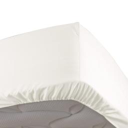 Drap housse naturel 90 x 190 cm en percale Bonnet de 30 cm