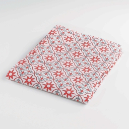 Drap plat 1 personne 180 x 290 cm imprime 57 fils allover galice Corail