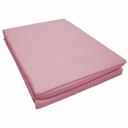 Drap plat 1 personne 180 x 290 cm uni 57 fils lina  + point bourdon Dragee