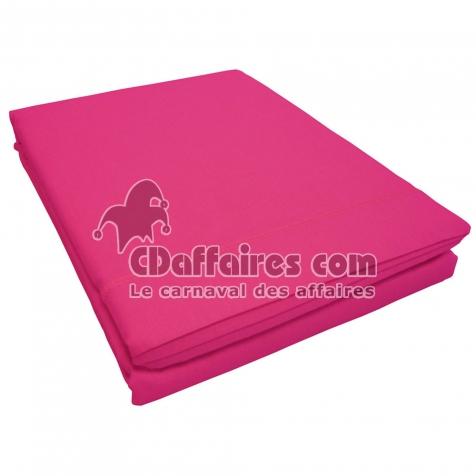 drap plat 2 personnes 240 x 300 cm uni 57 fils lina point bourdon bois de rose cdaffaires. Black Bedroom Furniture Sets. Home Design Ideas