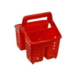 egouttoir couverts plastique rouge