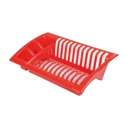 egouttoir vaisselle 43*27*h11cm - rouge