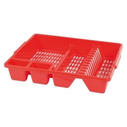 egouttoir vaisselle 47*39*h10cm - rouge