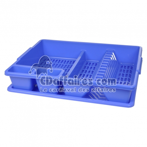 egouttoir vaisselle+plateau 47*39*h10.5cm - indigo - CDAffaires