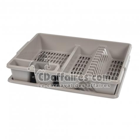 egouttoir vaisselle+plateau 47*39*h10.5cm - taupe - CDAffaires