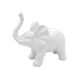 elephant ceramique 22.7*10.6*h20cm blanc