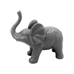 elephant ceramique 22.7*10.6*h20cm gris