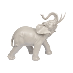 elephant en polyresine taupe h.30.5*l.33.5*p.16cm