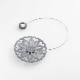 Embrase aimantee l 30 x (0) 8 cm metal patine emmy Gris/Argent