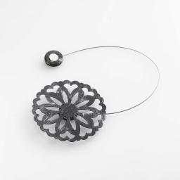 Embrase aimantee l 30 x (0) 8 cm metal patine emmy Noir/Argent