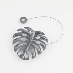 Embrase aimantee l 30 x 10 x 10 cm metal patine palmera Gris/Argent