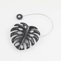 Embrase aimantee l 30 x 10 x 10 cm metal patine palmera Noir/Argent