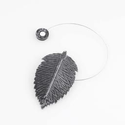 Embrase aimantee l 30 x 6.5 x 11.5 cm metal patine feuilletine Noir/Argent