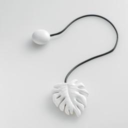 Embrase aimantee l 33 x 5 x 6.5 cm resine fossilia Blanc