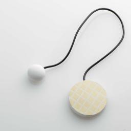 Embrase aimantee l 43 x (0) 6 cm mdf imprime ondoya Or/Blanc
