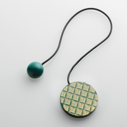 Embrase aimantee l 43 x (0) 6 cm mdf imprime ondoya Or/Vert