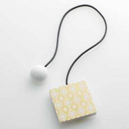Embrase aimantee l 43 x 6 x 6 cm mdf imprime arlequin Or/Blanc