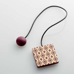 Embrase aimantee l 43 x 6 x 6 cm mdf imprime arlequin Or/Bordeaux