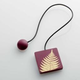 Embrase aimantee l 43 x 6 x 6 cm mdf imprime lisette Or/Bordeaux