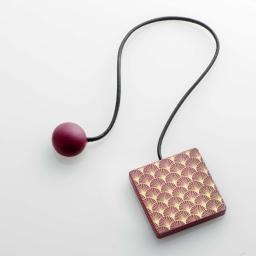 Embrase aimantee l 43 x 6 x 6 cm mdf imprime lumos Or/Bordeaux