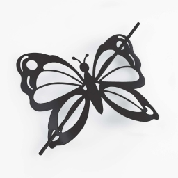 Embrase broche 16 x 14 cm metal peint farfalina Noir