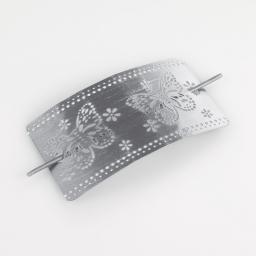Embrase broche 9 x 17.5 cm metal patine epica Gris/Argent