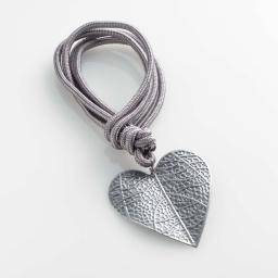 Embrase corde l 40 x 8 x 8 cm metal patine amourette Gris/Argent
