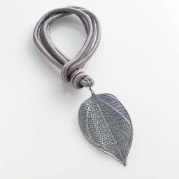 Embrase corde l 40 x 9.3 x 5.6 cm metal patine palmedor Gris/Argent
