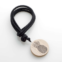 Embrase corde l 41 x (0) 6 cm bois imprime guarani Noir