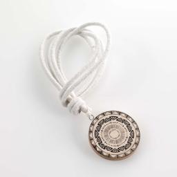Embrase corde l 41 x (0) 6 cm bois imprime jedeo Blanc