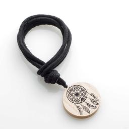 Embrase corde l 41 x (0) 6 cm bois imprime judy Noir