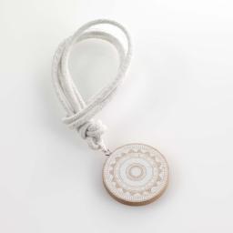 Embrase corde l 41 x (0) 6 cm bois imprime sharliz Blanc