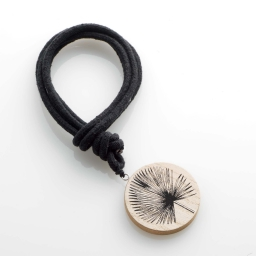 Embrase corde l 41 x (0) 6 cm bois imprime teaky Noir
