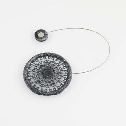 Embrasse aimantee l 30 x (0) 8 cm metal patine aela Noir/Argent