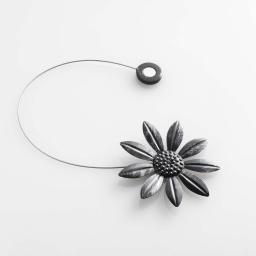Embrasse aimantee l 30 x (0) 8 cm metal patine margery Noir/Argent