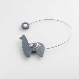Embrasse aimantee l 30 x 5.5 x 6.8 cm metal patine yzma Gris/Argent