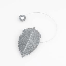 Embrasse aimantee l 30 x 6.5 x 11.5 cm metal patine feuilletine Gris/Argent
