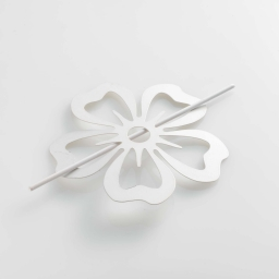 Embrasse broche (0) 15 cm metal peint petaly Blanc
