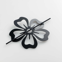 Embrasse broche (0) 15 cm metal peint petaly Noir