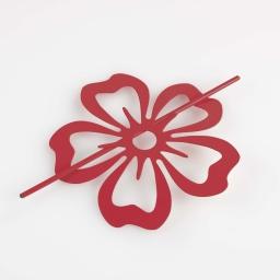 Embrasse broche (0) 15 cm metal peint petaly Rouge