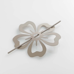 Embrasse broche (0) 15 cm metal peint petaly Taupe