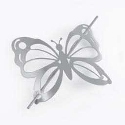Embrasse broche 16 x 14 cm metal peint farfalina Gris